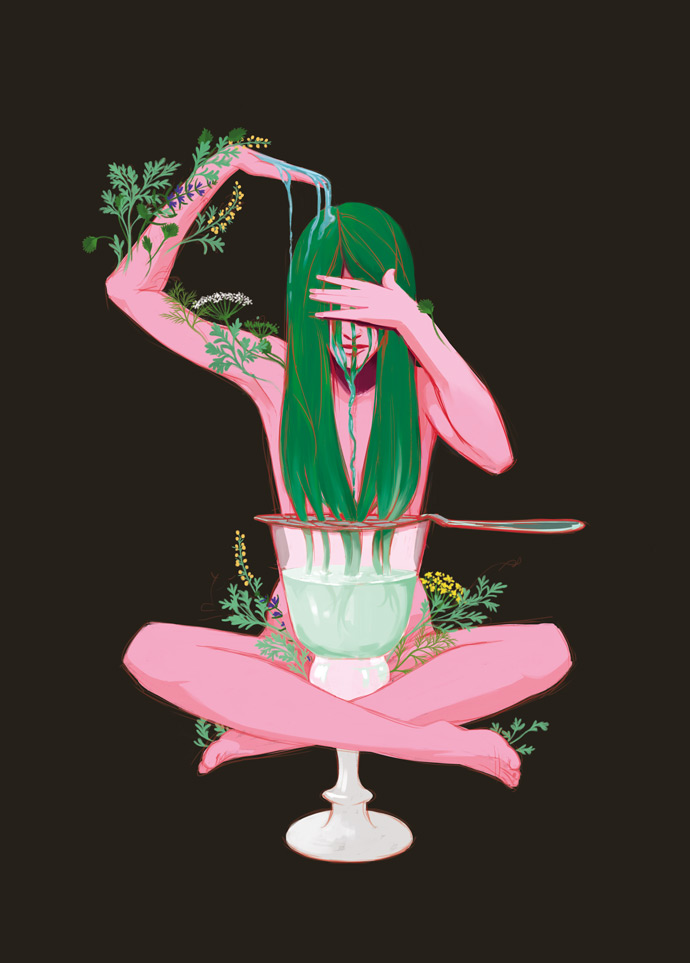 Illustration de Sandrine Pilloud | Absinthe | Exposition pbk9 - home page