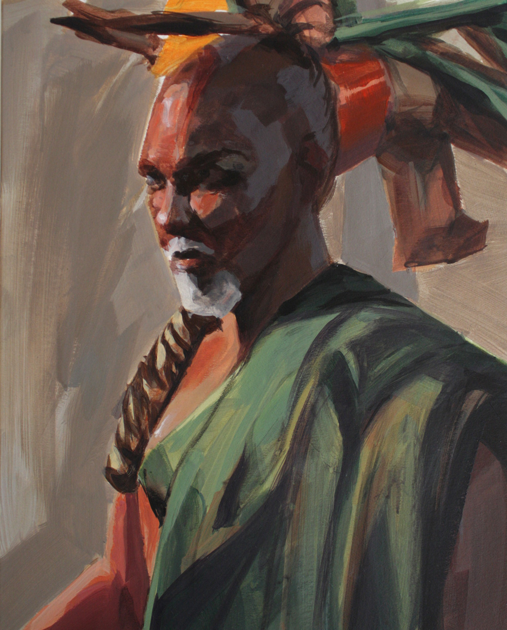 Peinture académique (homme portrait) avec modèle de Sandrine Pilloud   Peinture à l'huile