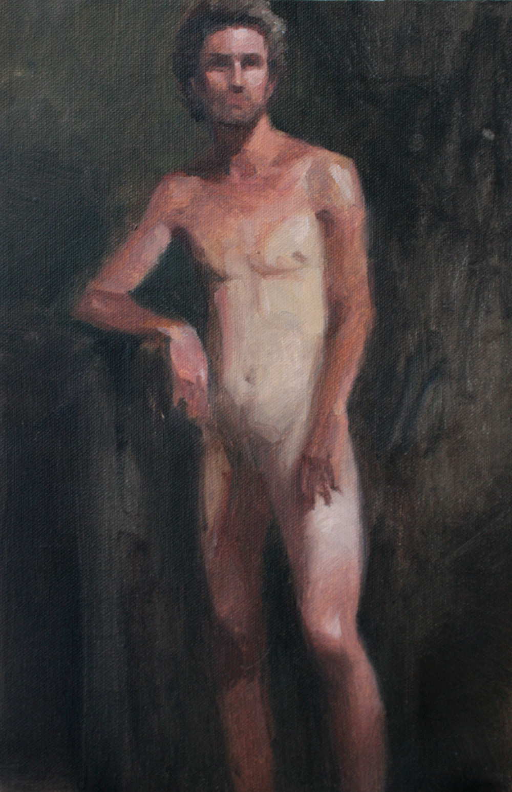 Peinture académique (homme) avec modèle de Sandrine Pilloud | Peinture à l'huile