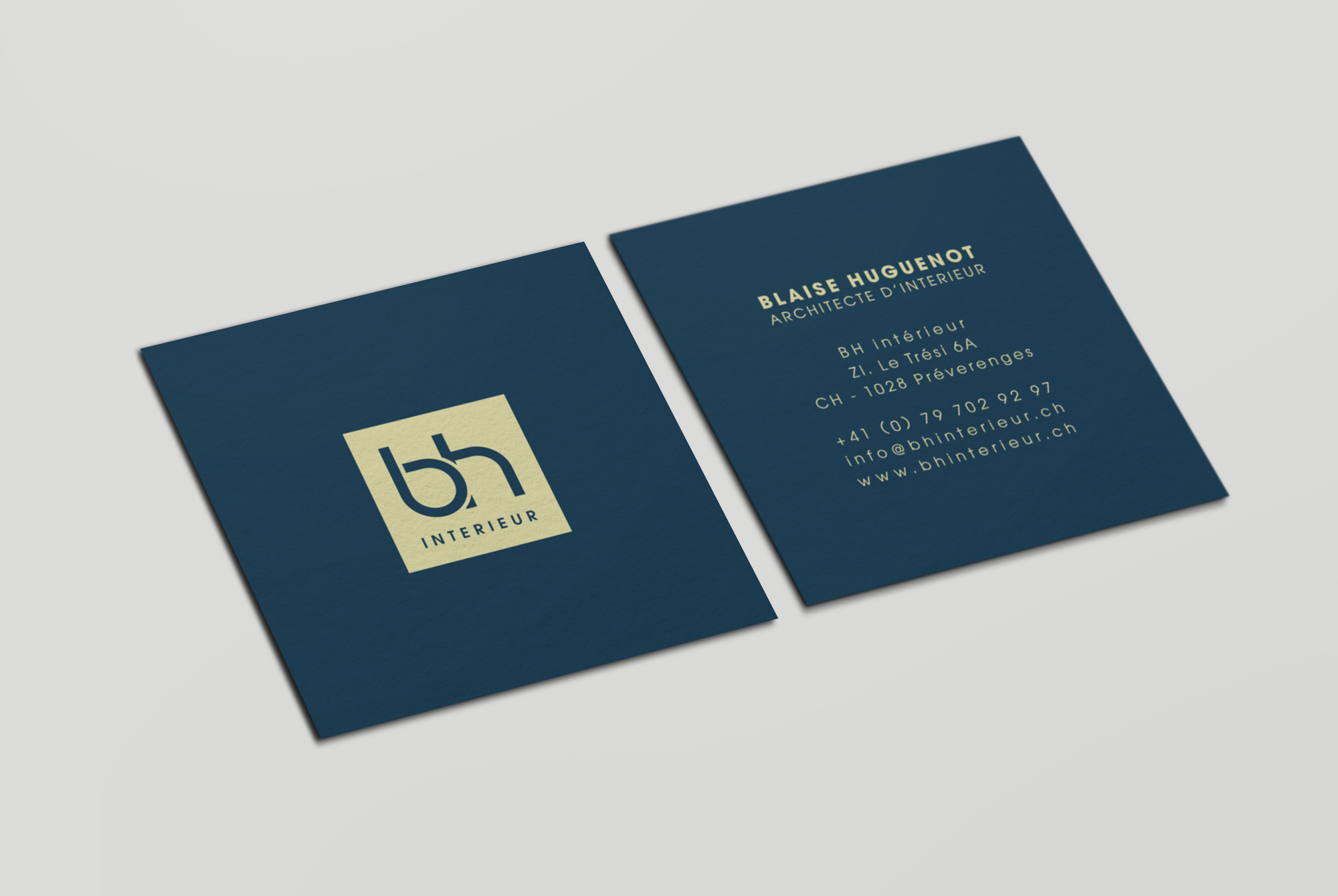 Carte de visite de bh interieur | Sandrine Pilloud