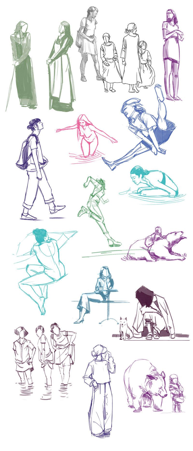 Sketch de Sandrine Pilloud - pose studies