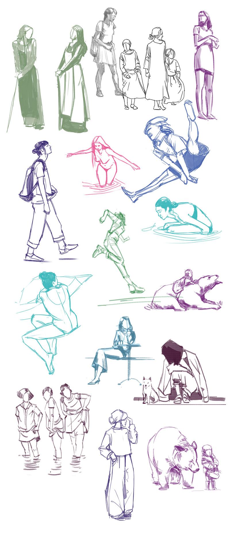 Sketch de Sandrine Pilloud - pose studies