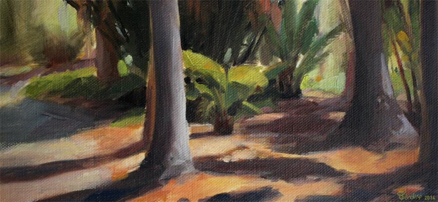 Plein Air Painting | Arboretum | Peinture à l'huile | Sandrine Pilloud