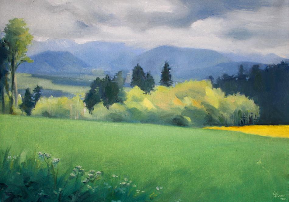 Plein Air Painting | Ferlens | Peinture à l'huile | Sandrine Pilloud