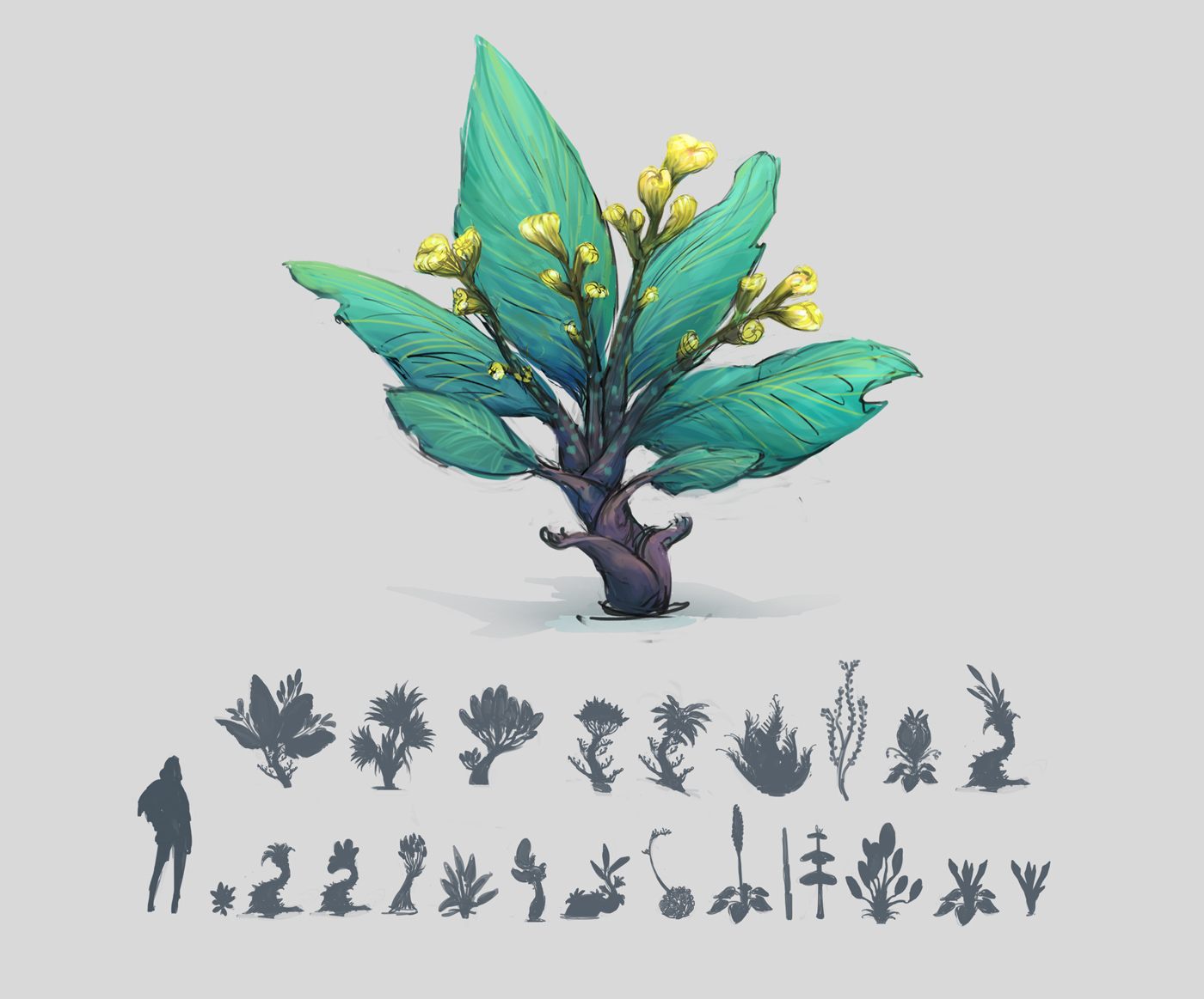 Concept Art de Sandrine Pilloud | toxic plant