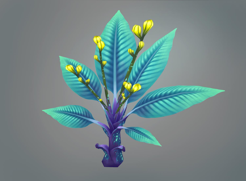 Texture 3D hand painted de Sandrine Pilloud | toxic plant rendu