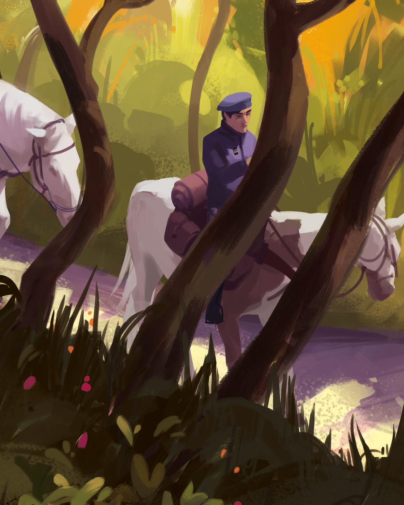 Illustration de Sandrine Pilloud | To kamikochi, détail 1 | Livre Kanako Sawada écrit par Lionel Tardy