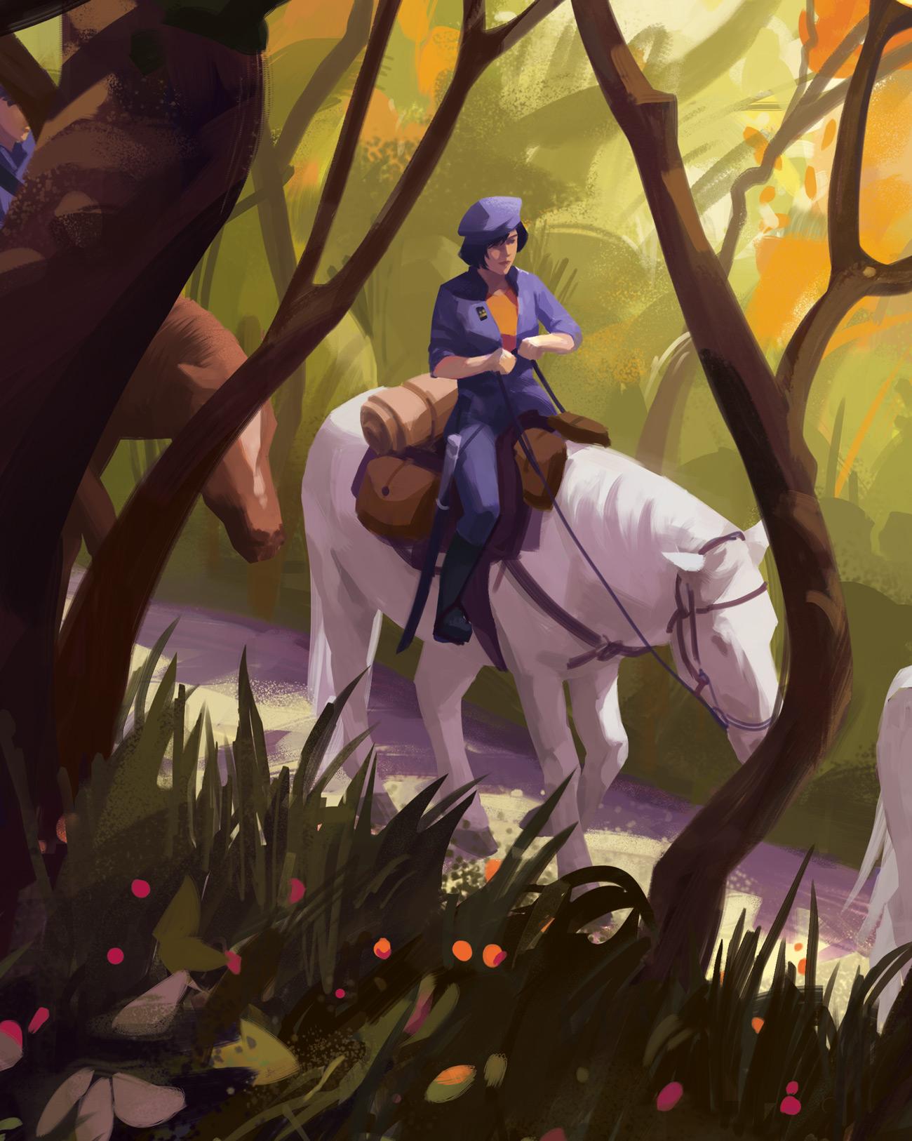 Illustration de Sandrine Pilloud | To kamikochi, détail 2 | Livre Kanako Sawada écrit par Lionel Tardy