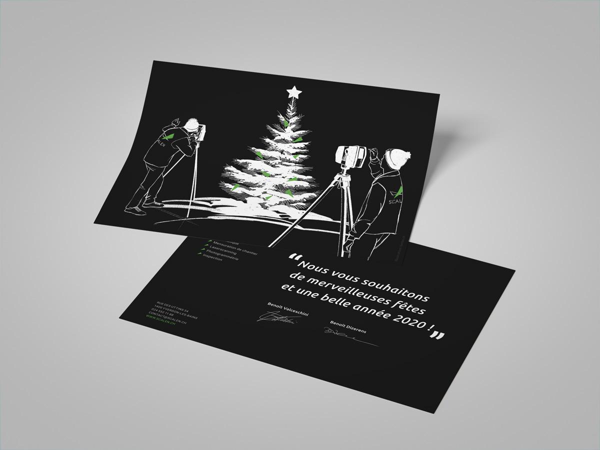 Illustration et Graphisme de Sandrine Pilloud pour le flyer de fin d'année de Scalen