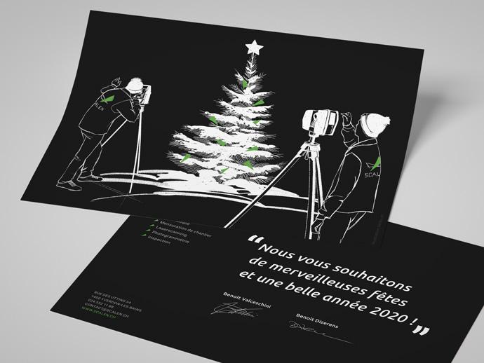 Illustration et Graphisme de Sandrine Pilloud pour le flyer de fin d'année de Scalen - home page