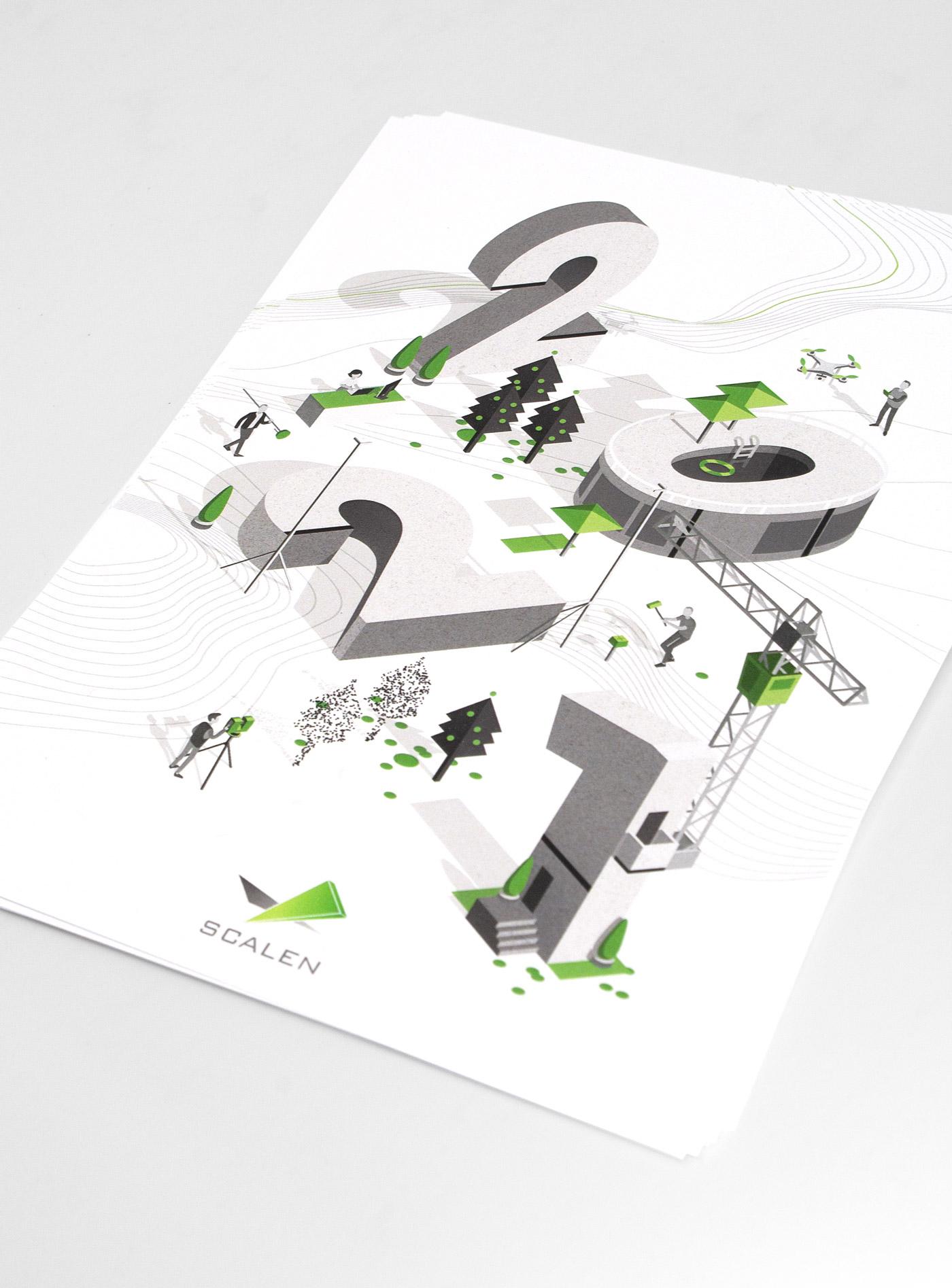 Illustration et Graphisme de Sandrine Pilloud pour le flyer de fin d'année de Scalen - photo